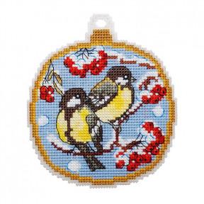 Набор для вышивки крестом Alisena Синички 8031а