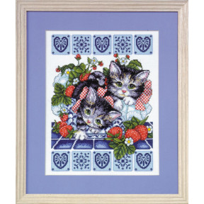 Набор для вышивания Design Works 9859 Strawberry Kittens