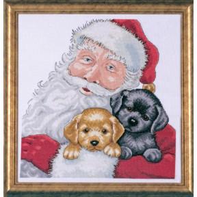 Набор для вышивания Design Works 5978 Santa With Puppies
