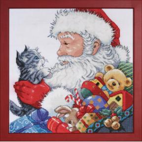 Набор для вышивания Design Works 5977 Santa With Kitten