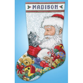 Набор для вышивания Design Works 5973 Santa & Kitten