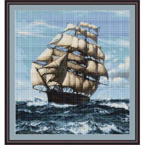 Набор для вышивки крестом Luca-S  Корабль B438