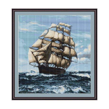 Набор для вышивки крестом Luca-S Корабль B438 фото