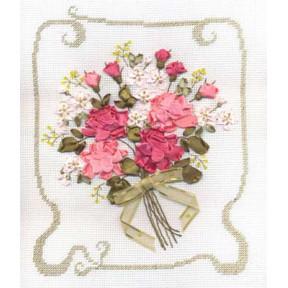 Набор для вышивки лентами Panna Ц-0776 Признание в любви