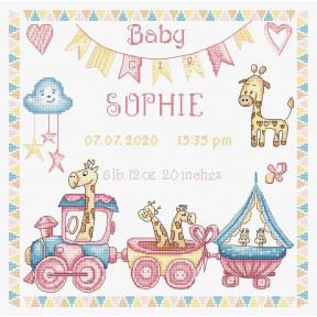 Набор для вышивания LETISTITCH Baby girl record LETI 935