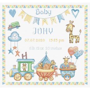 Набор для вышивания LETISTITCH Baby Boy Record LETI 936