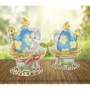 """Набор для вышивания крестом Crystal Art Серия """"Светлой Пасхи! Пасхальный кролик"""" Т-64"""