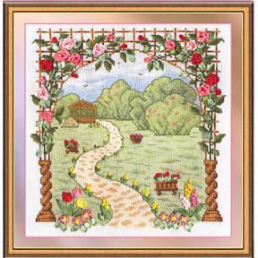 Набор для вышивки лентами Panna Ц-0901 Любимый сад