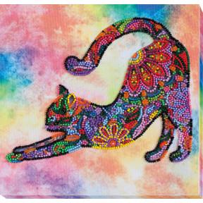 """Набор для вышивки бисером на холсте Абрис Арт """"Игривый котёнок"""" АМВ-060"""