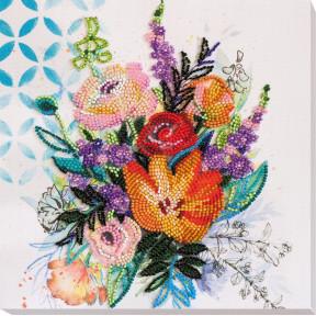 """Набор для вышивки бисером на холсте Абрис Арт """"Цветочная феерия"""" АМВ-067"""