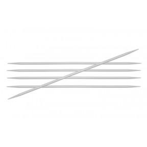 Спицы носочные 6.00 мм - 20 см Basix Aluminum KnitPro 45126