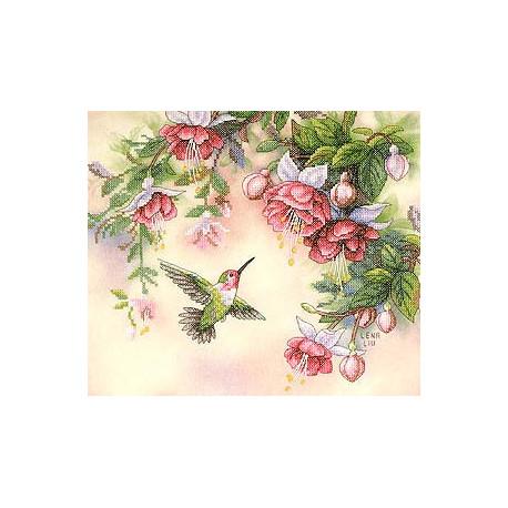Набор для вышивания Dimensions 13139 Hummingbird and Fuchsias