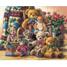 Набор для вышивки крестом Dimensions 35115 Teddy Bear Gathering