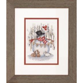 Набор для вышивания  Dimensions Joyful Snowman 70-08984