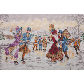 "Набор для вышивания Anchor "" Каток на Рождество (Skaters At Christmas)"" 05045"