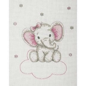 Набор для вышивания Anchor  Слоник девочка(Girl Elephant) AK33