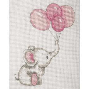 Набор для вышивания Anchor   Воздушные шары девочка(Girl Balloons) AK30