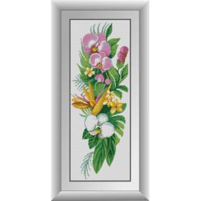 Набор для рисования камнями алмазная живопись Dream Art Букет орхидей (квадратные, полная) 30193D