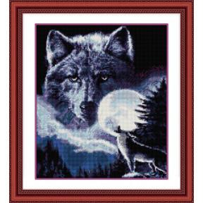 Набор для рисования камнями алмазная живопись Dream Art Дух волка (квадратные, полная) 30194D