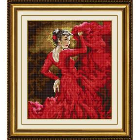 Набор для рисования камнями алмазная живопись Dream Art Танец страсти (квадратные, полная) 30211D