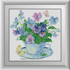 Набор для рисования камнями алмазная живопись Dream Art Утренние цветы (квадратные, полная) 30221D