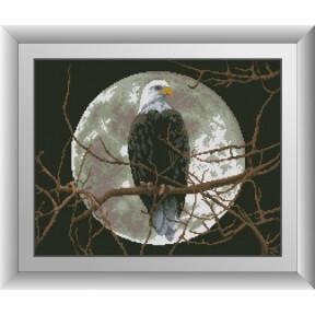 Набор для рисования камнями алмазная живопись Dream Art Орел под луной (квадратные, полная) 30238D