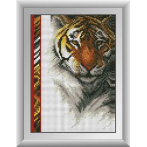 Набор для рисования камнями алмазная живопись Dream Art Королевский тигр (квадратные, полная) 30254D