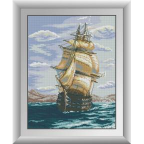 Набор для рисования камнями алмазная живопись Dream Art Полный вперед (квадратные, полная) 30261D