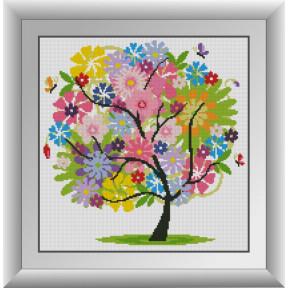 Набор для рисования камнями алмазная живопись Dream Art Летнее дерево (квадратные, полная) 30269D