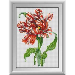 Набор для рисования камнями алмазная живопись Dream Art Тигровый тюльпан (квадратные, полная) 30276D