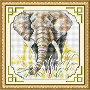 Набор для рисования камнями алмазная живопись Dream Art Слон (квадратные, полная) 30371D