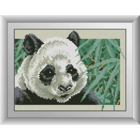 Набор для рисования камнями алмазная живопись Dream Art Панда в бамбуковой роще (квадратные, полная) 30374D