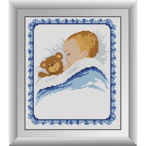 Набор для рисования камнями алмазная живопись Dream Art Метрика для мальчика (квадратные, полная) 30388D