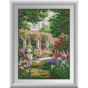 Набор для рисования камнями алмазная живопись Dream Art Тайный сад (квадратные, полная) 30401D