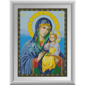 Набор для рисования камнями алмазная живопись Dream Art Икона Божьей Матери Неувядаемый цвет (квадратные, полная) 30533D