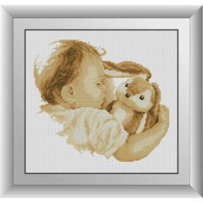Набор для рисования камнями алмазная живопись Dream Art Малыш (квадратные, полная) 30566D
