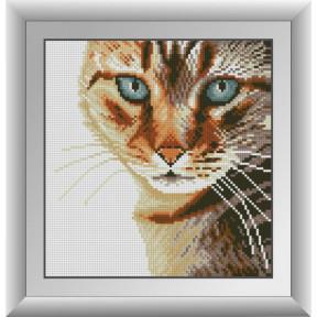 Набор для рисования камнями алмазная живопись Dream Art Бенгальский кот (квадратные, полная) 30574D