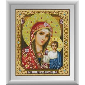 Набор для рисования камнями алмазная живопись Dream Art Казанская Пресвятая Богородица (квадратные, полная) 30646D