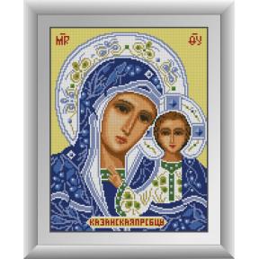 Набор для рисования камнями алмазная живопись Dream Art Пресвятая Богородица Казанская (квадратные, полная) 30693D