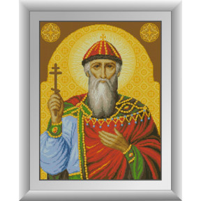 Набор для рисования камнями алмазная живопись Dream Art Святой Владимир (квадратные, полная) 30747D