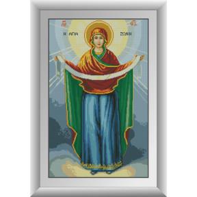 Набор для рисования камнями алмазная живопись Dream Art Покров Пресвятой Богородицы (квадратные, полная) 30749D