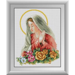 Набор для рисования камнями алмазная живопись Dream Art Пресвятая Дева Мария (квадратные, полная) 30789D