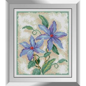 Набор для рисования камнями алмазная живопись Dream Art Цветочное трио - 2 (квадратные, полная) 31236D