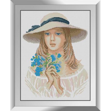 Набор для рисования камнями алмазная живопись Dream Art Девушка