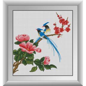 Набор для рисования камнями алмазная живопись Dream Art Райские птицы (квадратные, полная) 30877D