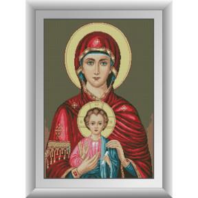 Набор для рисования камнями алмазная живопись Dream Art Икона Божьей матери (квадратные, полная) 30883D