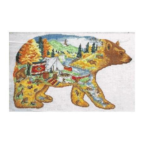 Набор для вышивания Design Works 2349 Bear Country фото