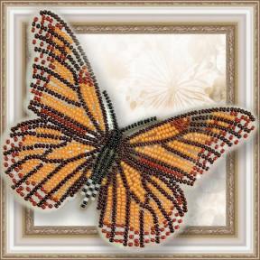 Набор для вышивки бисером бабочки на прозрачной основе Вдохновение Данаида Монарх BGP-001