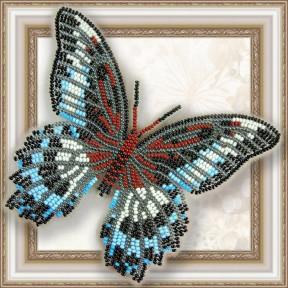 Набор для вышивки бисером бабочки на прозрачной основе Вдохновение Парусник Полимнестор BGP-004