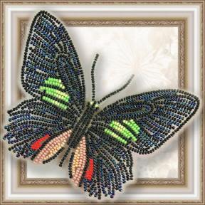 Набор для вышивки бисером бабочки на прозрачной основе Вдохновение Parides sesostris zestos BGP-006